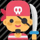 avatar, costume, halloween, man, masquerade, pirate, robber icon