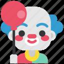 avatar, clown, costume, funster, halloween, man, masquerade icon