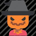 avatar, costume, ghost, halloween, masquerade, scarecrow, spook icon