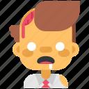 avatar, costume, halloween, man, masquerade, sick, zombie icon