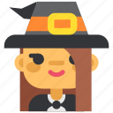avatar, costume, girl, halloween, masquerade, witch, woman icon