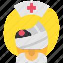 avatar, costume, halloween, masquerade, nurse, woman, zombie icon