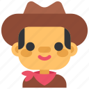 avatar, costume, cowboy, face, halloween, man, masquerade icon