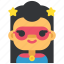 avatar, costume, girl, halloween, masquerade, superhero, woman icon