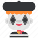 avatar, clown, costume, halloween, man, masquerade, mime