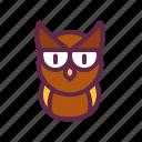 animal kingdom, bird, halloween, night, owl