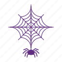 halloween, holiday, scary, spider icon