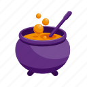 halloween, holiday, horror, scary, witch pot icon