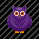 bird, halloween, holiday, owl icon