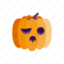 halloween, holiday, monster, pumpkin, scary icon