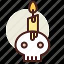 bat, candle, dark, holiday, horror icon
