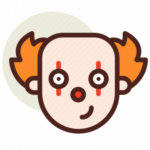 clown, holiday, horror icon
