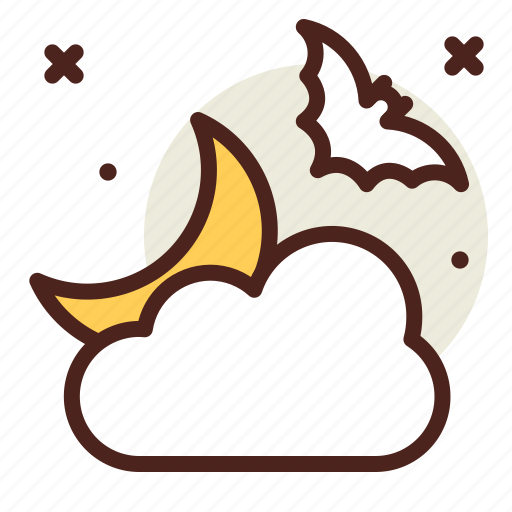 bat, cloud, holiday, horror, night, weather icon