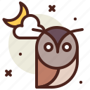 cloud, education, holiday, horror, owl icon