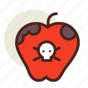 apple, holiday, horror, poisoned icon