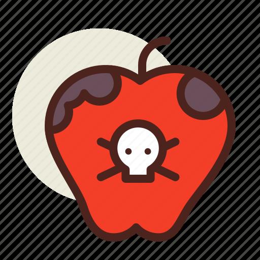 apple, holiday, horror, poisoned icon