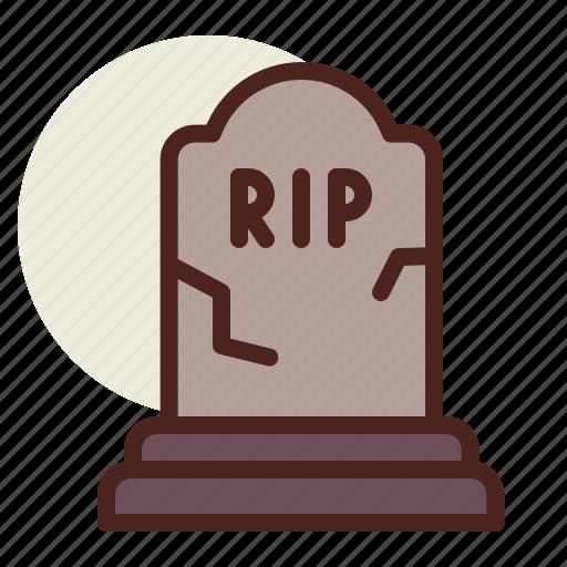 holiday, horror, stone, tomb icon
