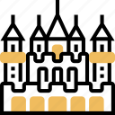 rich, mansion, abandoned, castle, palace
