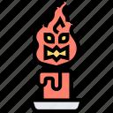 ritual, candle, burning, light, decoration icon