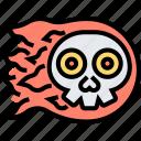 ghost, devil, burning, death, skull