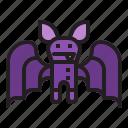spooky, halloween, animal, bat