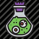 horror, bottle, spooky, poison, eyeball, jar