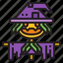 halloween, pumpkin, scarecrow, scary
