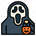 trick, halloween, scream, or, treat, spooky, ghost icon