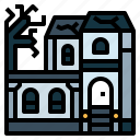 halloween, house, haunted, horror, building icon