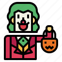 monster, joker, halloween, or, trick, treat, man