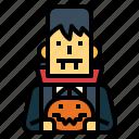 pumpkin, vampire, trick, dracula, halloween, or, treat
