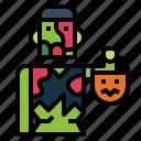 monster, undead, trick, halloween, or, treat, zombie