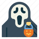 ghost, treat, spooky, trick, or, scream, halloween icon