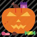 candy, jack, pumpkin, o, lantern, halloween icon