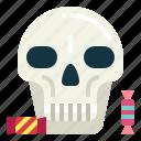 candy, head, skeleton, skull, halloween