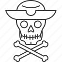 pirate, skeleton, death, skull, halloween