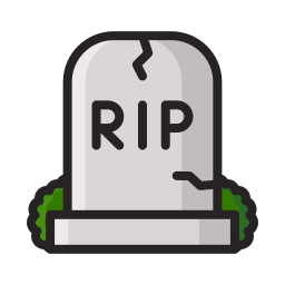 cemetery, dead, death, grave, graveyard, halloween, scary icon