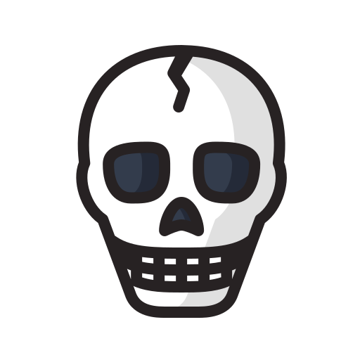 danger, dead, death, halloween, scary, skeleton, skull icon