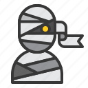 halloween, horror, monster, mummy, scary, spooky icon