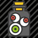 eyeball, eyes, halloween, horror, jar, scary icon