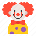 avatar, carnival, circus, clown, halloween icon