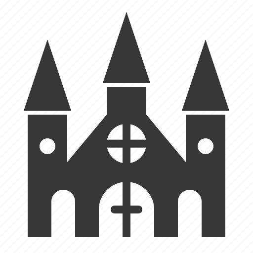 castle, halloween, haunted house, horror, scary, spooky icon