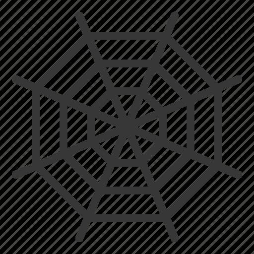 cobweb, halloween, spider web, spooky, trap icon