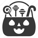 basket, candy, halloween, halloween basket, lollipop, sweets icon