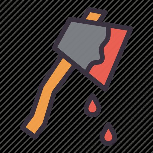 axe, blood, hatchet, horror, killer, murder, violence icon