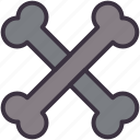 bones, caution, crossbones, danger, death, posion, skeleton icon