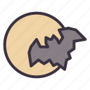 bat, halloween, horror, moon, night, scary, spooky icon