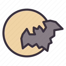 bat, halloween, horror, moon, night, scary, spooky icon