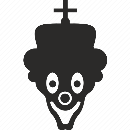 clown, crown, face, mask, smile icon
