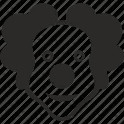clown, face, good, hero, holiday, smile icon